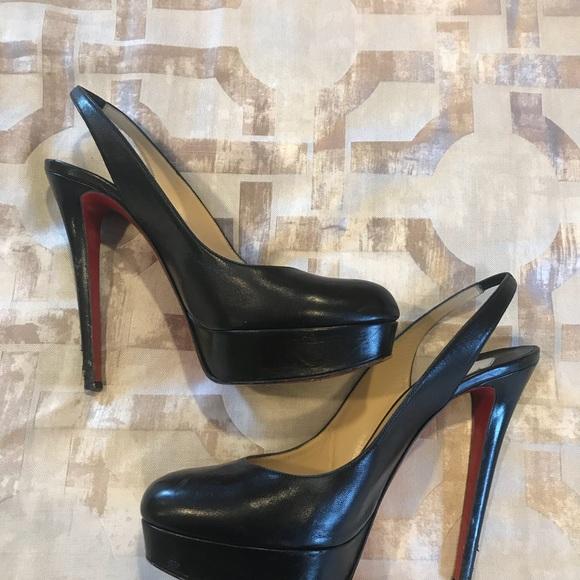 63acb06b0bd3 Christian Louboutin Shoes - Christian Louboutin Sling-back Platform Shoes